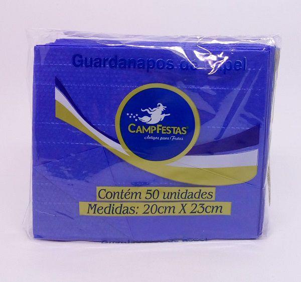 Guardanapo Camp Azul Escuro 20 cm x 23 cm c/50 unidades
