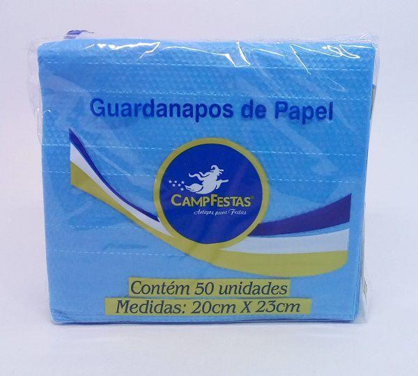 Guardanapo Camp Azul Médio 20 cm x 23 cm c/50 unidades