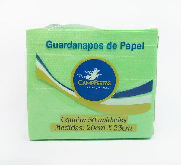 Guardanapo Camp Verde Claro 20 cm x 23 cm c/50 unidades