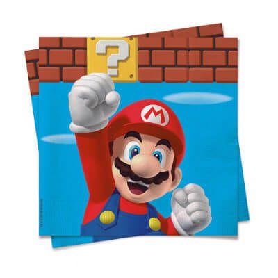 Guardanapo Decorado Super Mario c/20 unidades