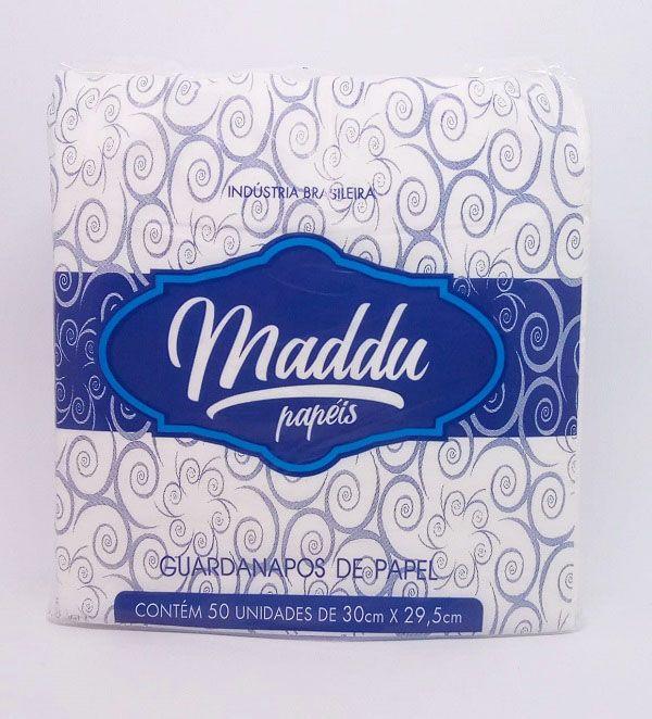 Guardanapo Maddu Branco 30 cm x 29,5 cm c/50 unidades