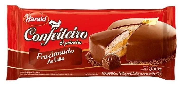 Harald Confeiteiro Barra Cobertura Fracionada Chocolate Ao Leite 1,050 kg