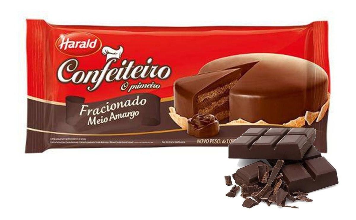 Harald Confeiteiro Barra Cobertura Fracionada Chocolate Meio Amargo 1,050 kg