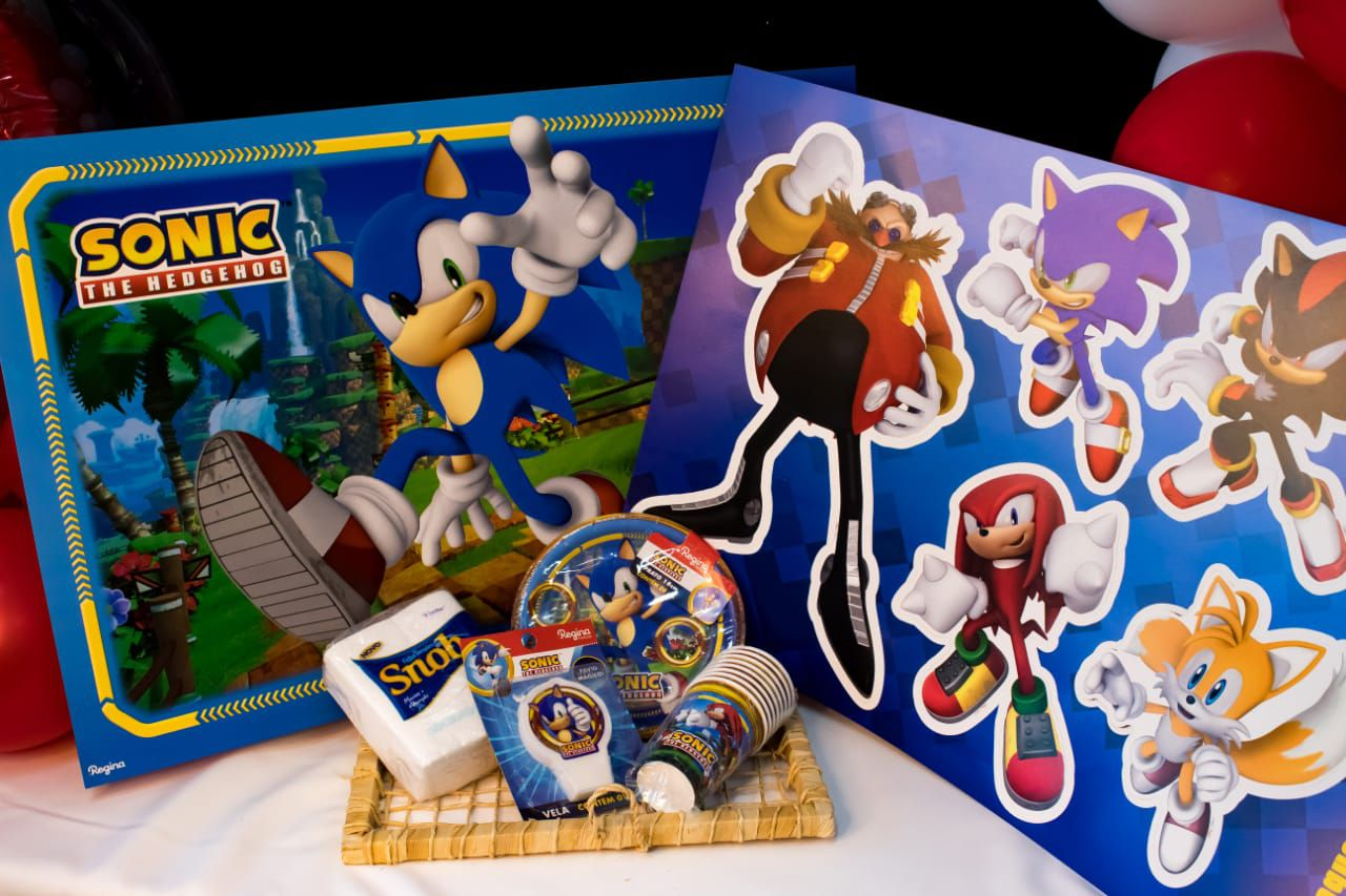 Kit Festa Sonic p/ 08 pessoas