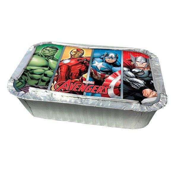 Kit Marmitinha Com Estampa Avengers Animated c/08 unidades