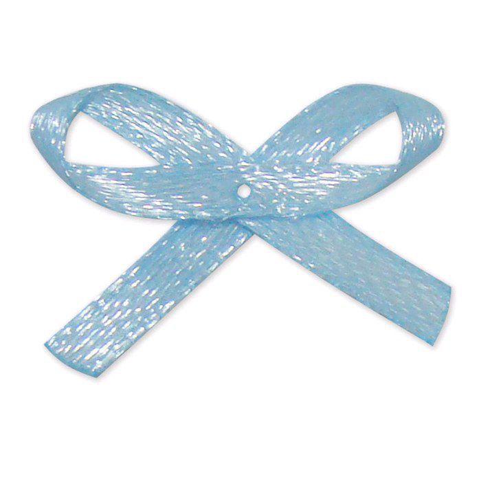 Laço Cetim Azul Bebê 00 c/50 unidades