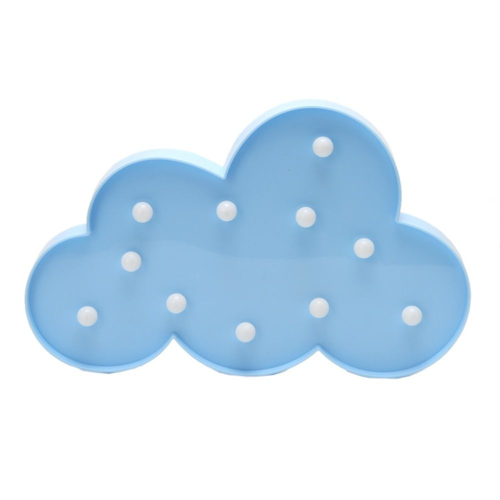 Luminoso Decorativo Nuvem c/ LED Azul - unidade