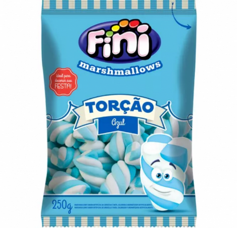 Marshmallow Torção Azul 250g