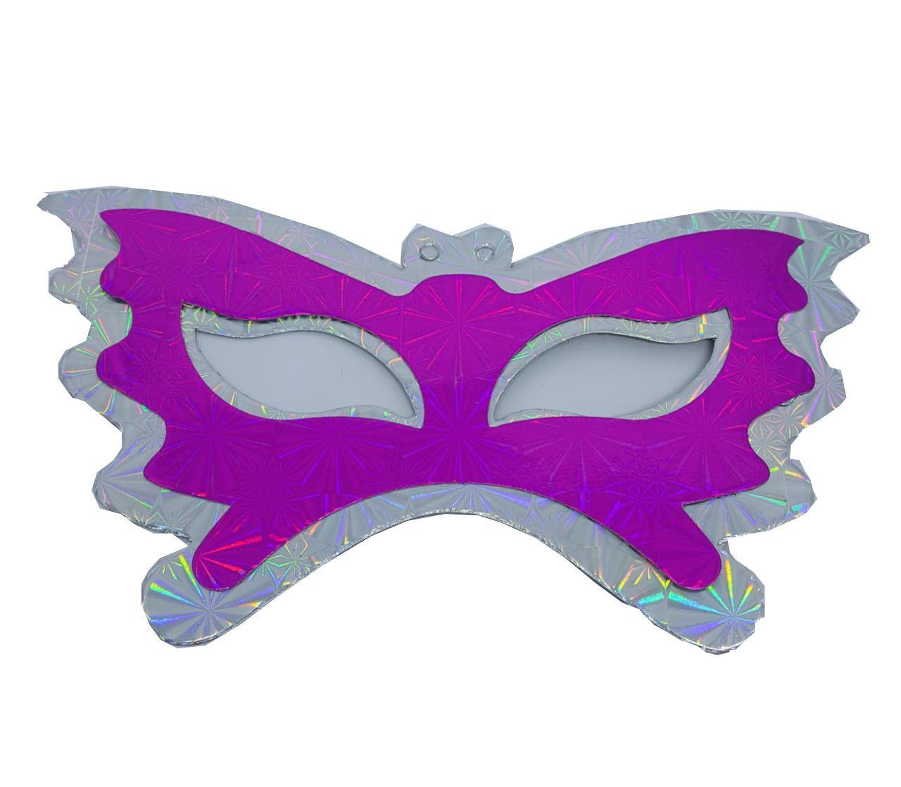 Máscara Borboleta c/12 unidades (cores sortidas na embalagem)