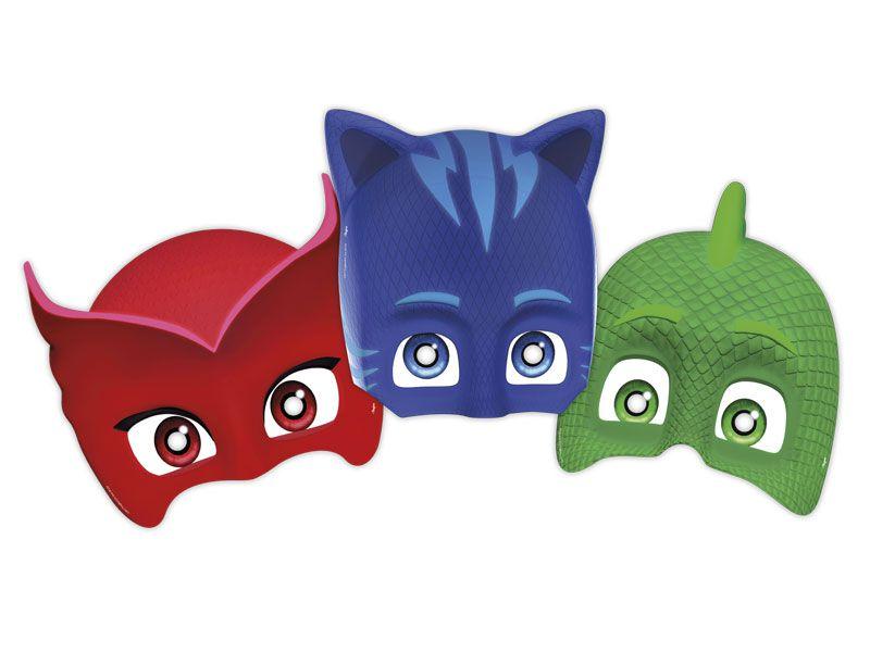 Máscara PJ Masks c/06 unidades