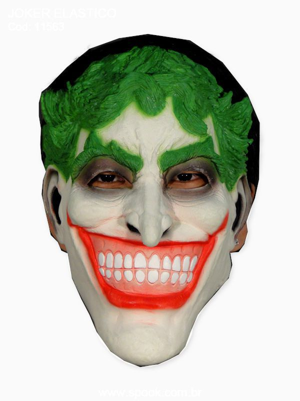 Máscara Spook Joker Elástico - unidade