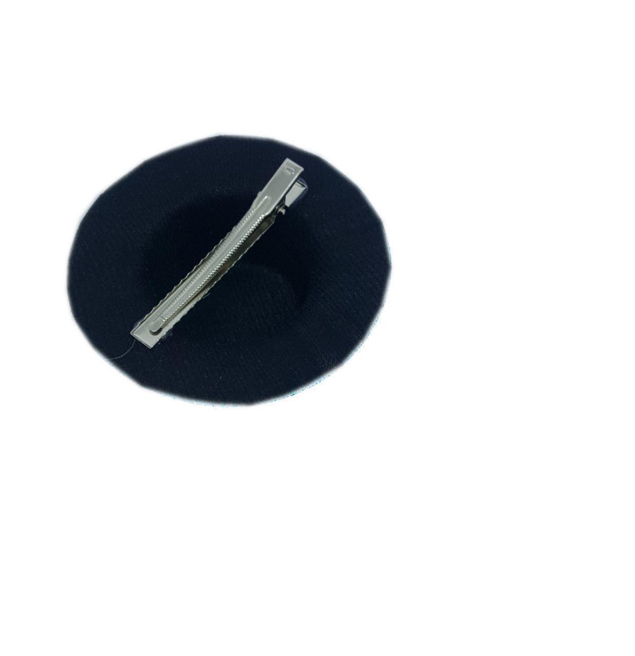 Mini Chapéu Luxo c/ presilha Prata - unidade