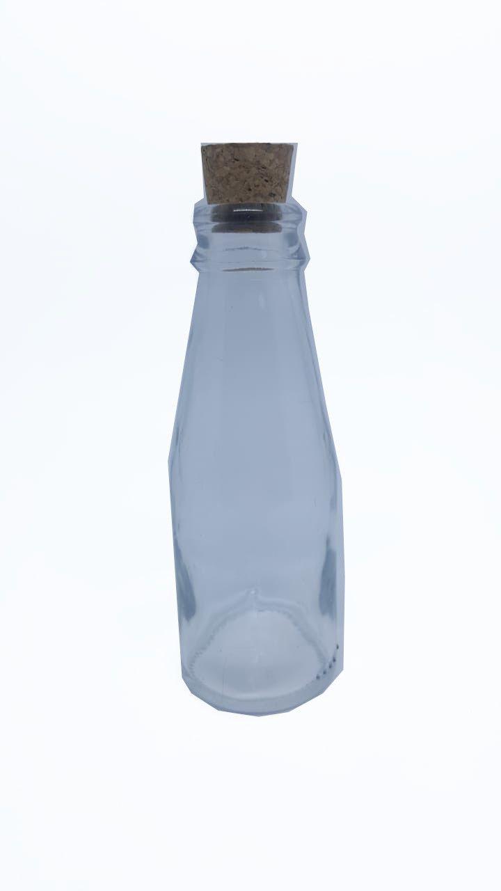 Mini Garrafinha de Vidro c/ rolha 120 ml - unidade