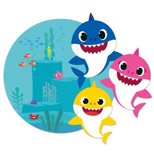 Painel 4 Laminas Baby Shark