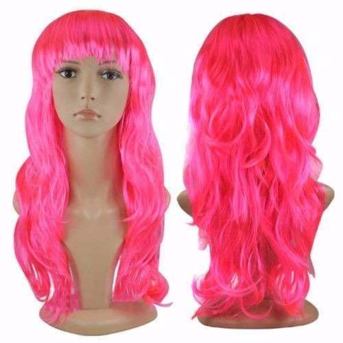 Peruca Longa Cacheada Pink - unidade