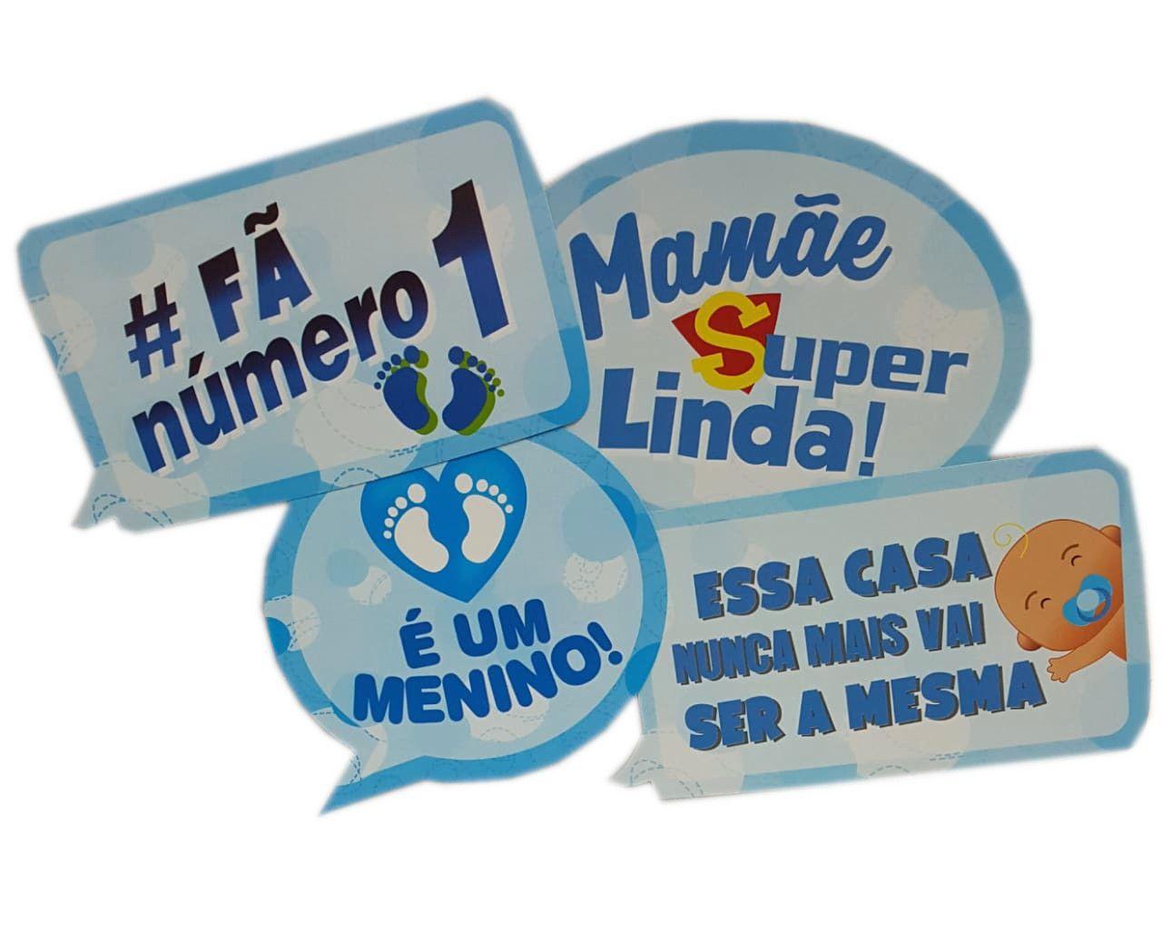 Plaquinhas Divertidas Marques Festas - Chá de Bebê Masculino c/12 unidades