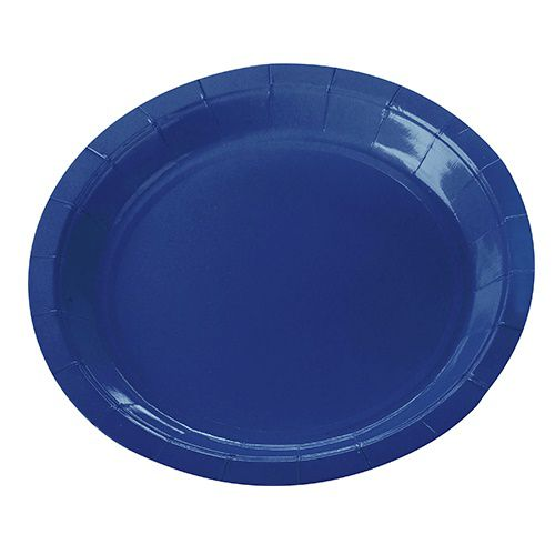 Prato de Papel Silver Plastic Azul 18 cm c/10 unidades