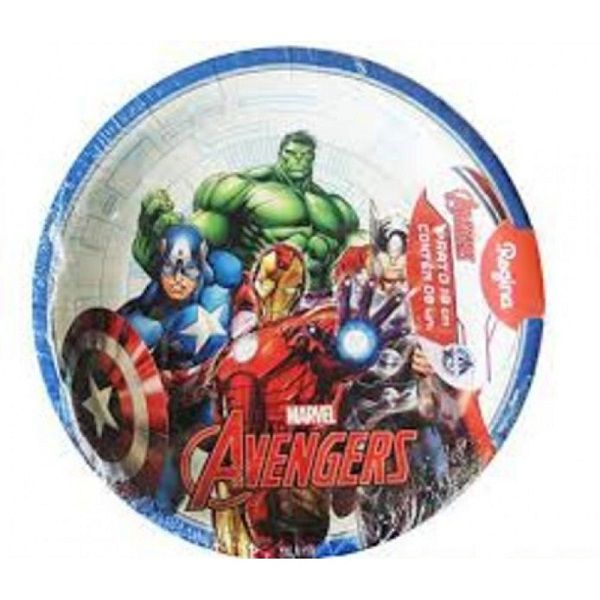 Prato Decorado Avengers Animated c/08 unidades