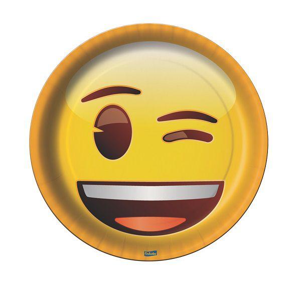 Prato Decorado Emoji c/08 unidades
