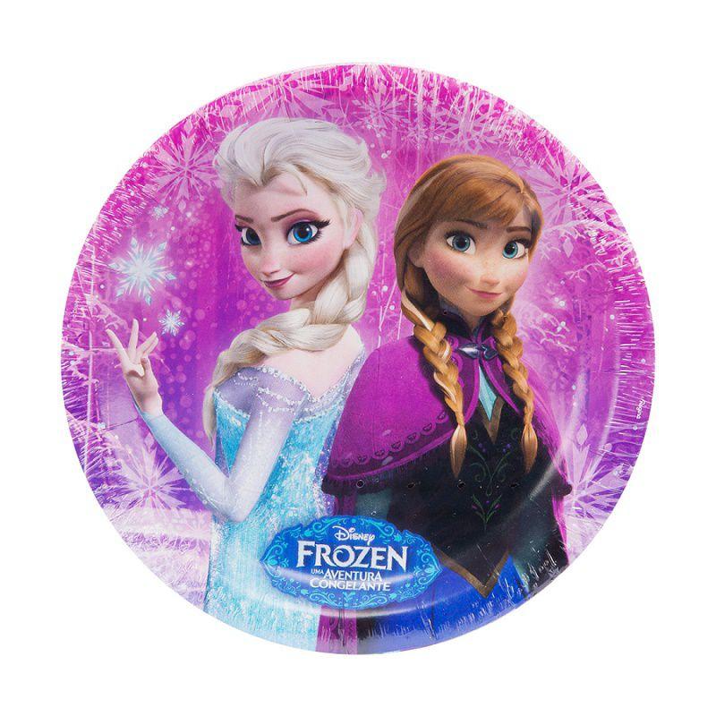 Prato Decorado Frozen c/12 unidades