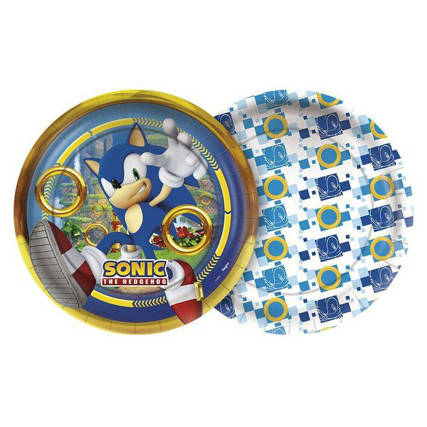 Prato Decorado Sonic c/08 unidades