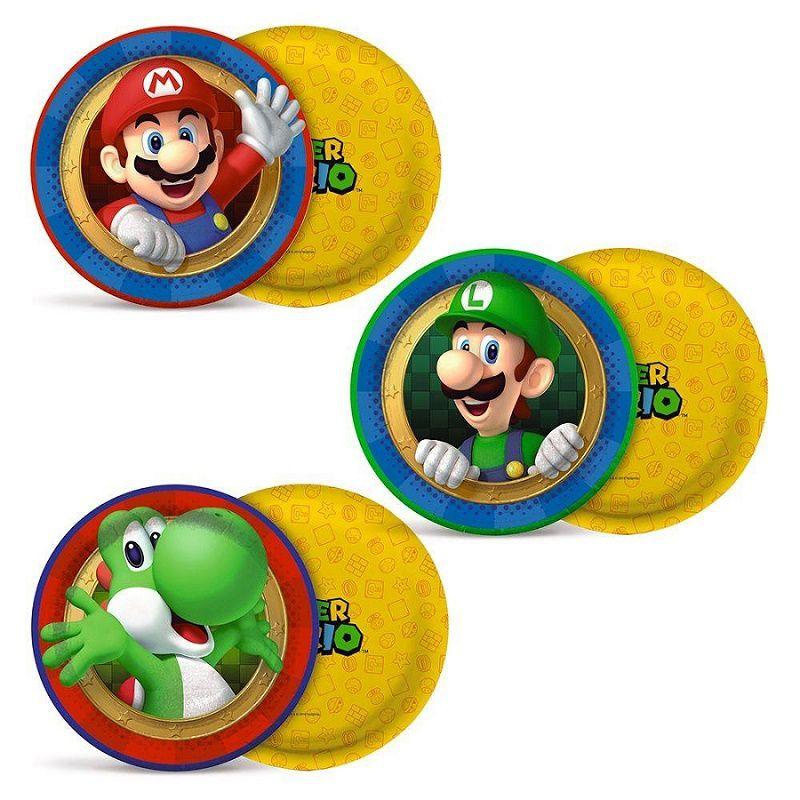 Prato Decorado Super Mario c/08 unidades