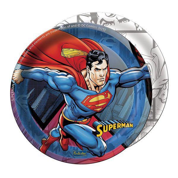 Prato Decorado Superman c/08 unidades