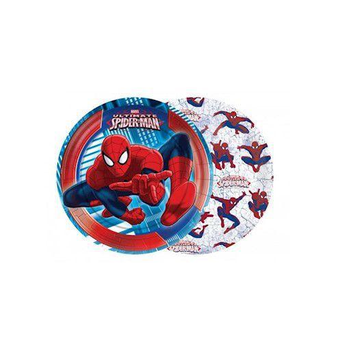 Prato Decorado Ultimate Spider Man c/08 unidades