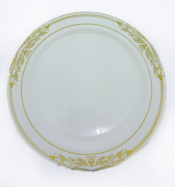 Prato Silver Plastic Vintage Dourado c/06 unidades