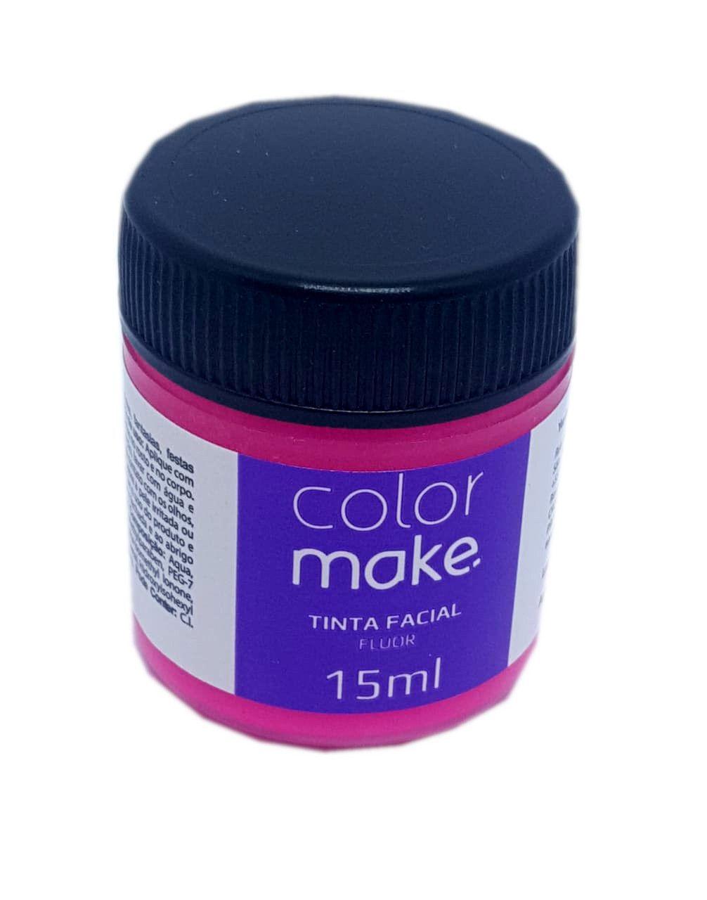 Tinta Facial Colormake Fluorescente Pink 15 ml - unidade