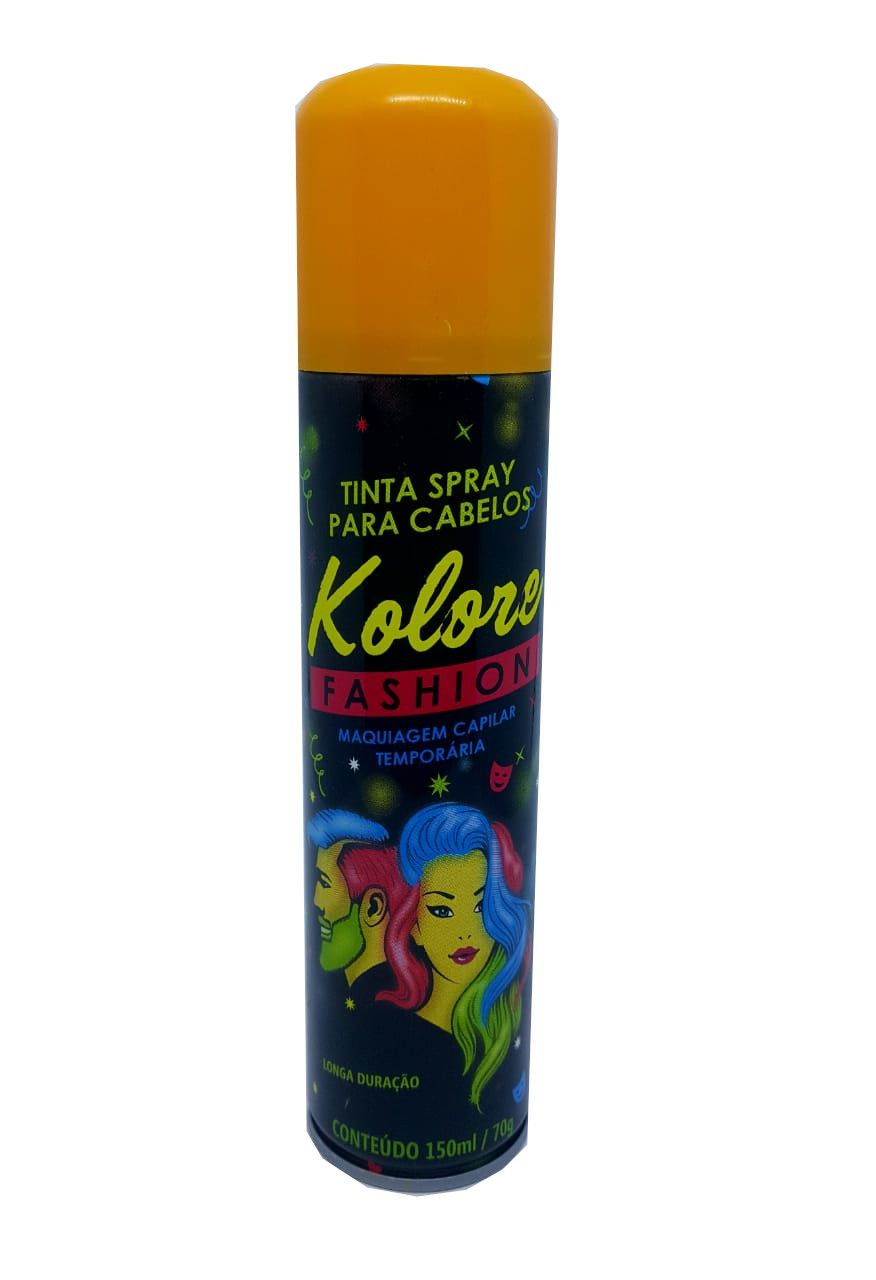 Tinta Spray para cabelos Kolore Fashion cor laranja - 150 ml