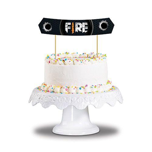 Topo para bolo Festa Fire c/01 unidade