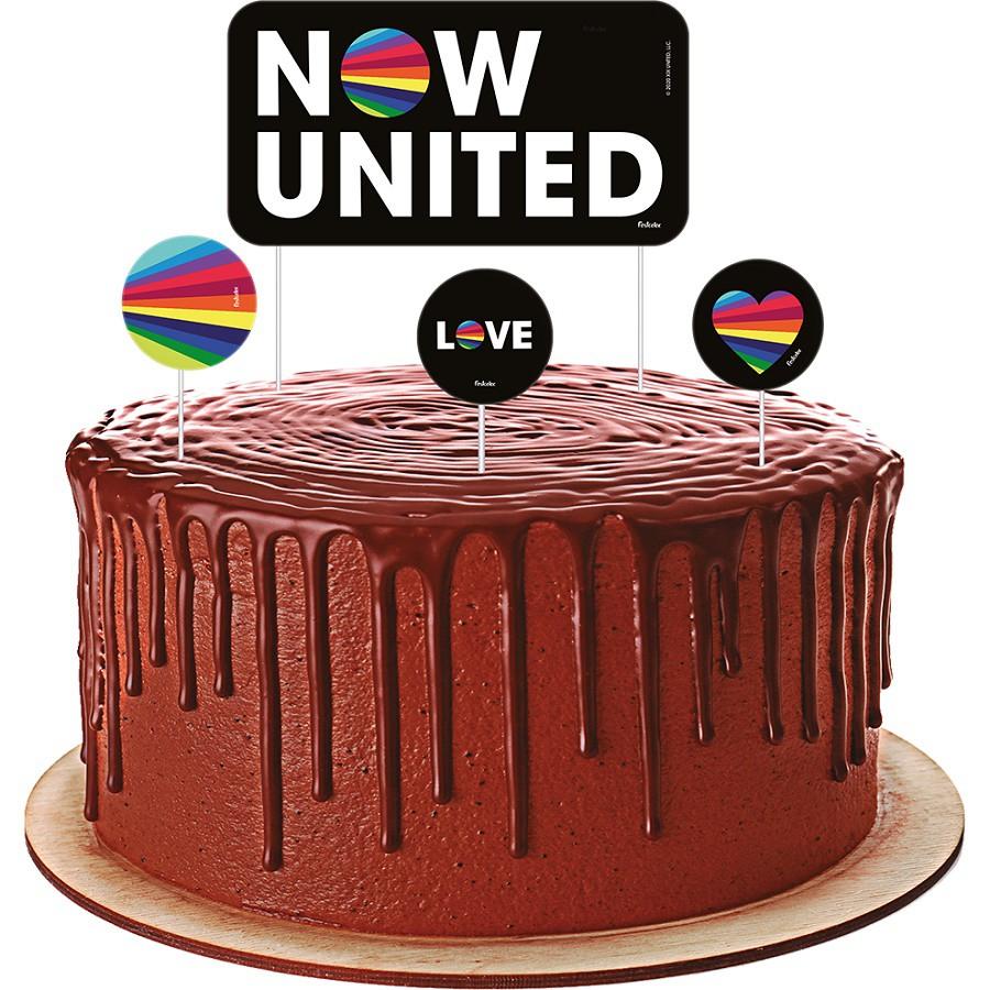 Topper para bolo Now United c/04 unidades