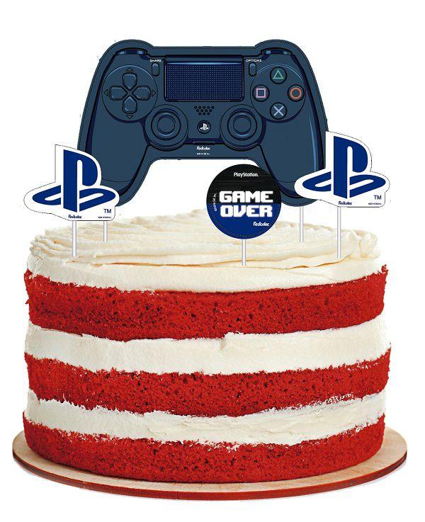 Topper Para Bolo PlayStation c/04 unidades