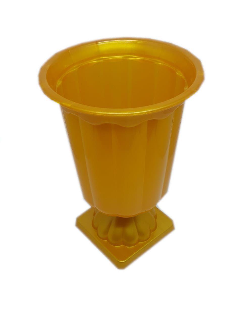 Vaso Grego Dourado 12,5 cm x 19 cm