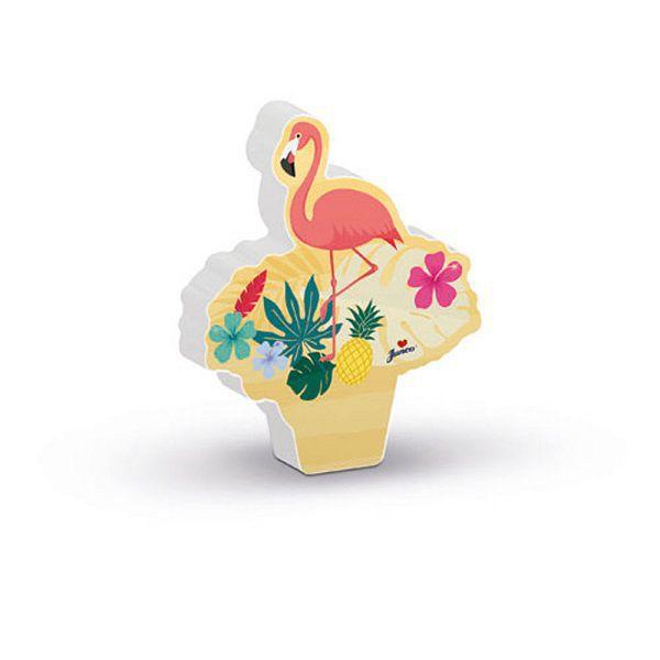 Vela Decorada Flamingo