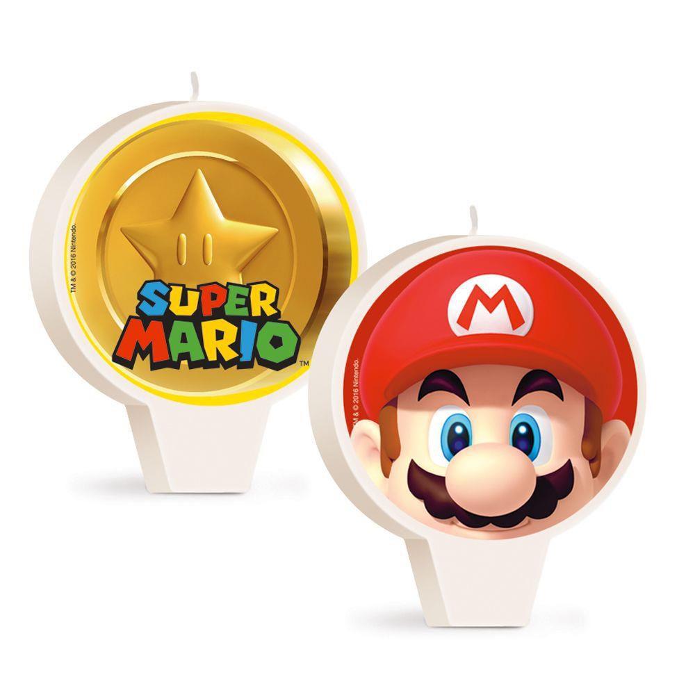 Vela Decorada Super Mario