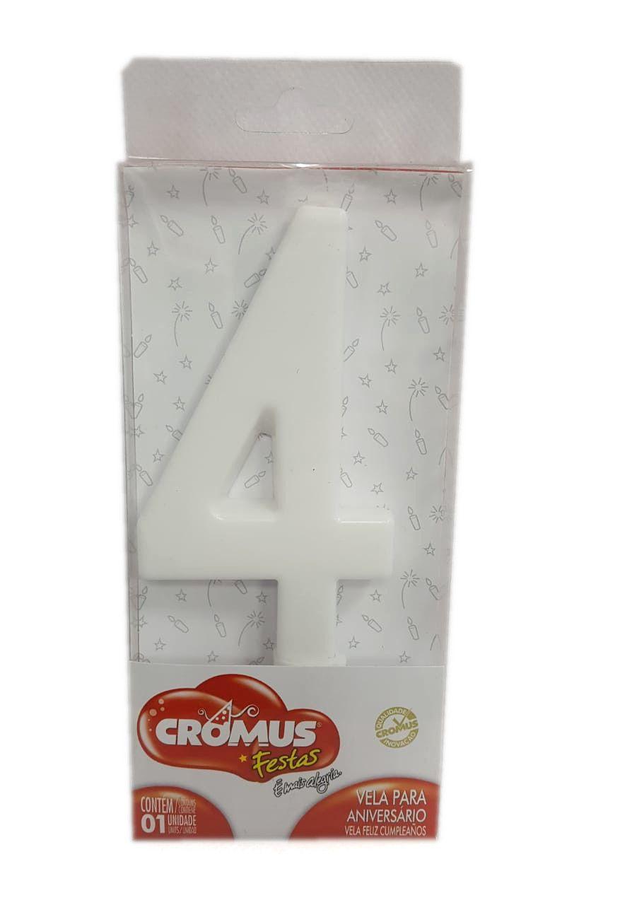 Vela Grande Cromus Branca Nº 4 - unidade