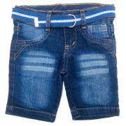 Bermuda Jeans Kids Azul Escuro