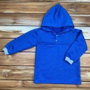Blusa com Capuz Kids Azul