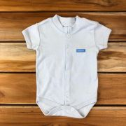 Body Curto Baby Azul Neutro