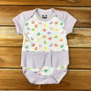 Body Curto Baby Lilas