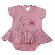 Body Curto Baby Rosa