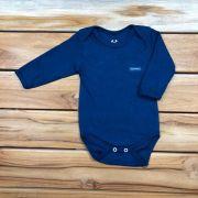 Body Longo Baby Azul Marinho
