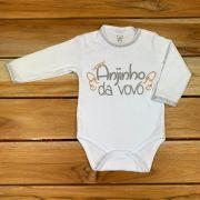 Body Longo Comemorativo Baby Branco