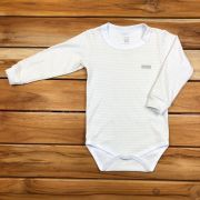 Body Longo Kids Branco Neutro