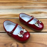 Calçado Vermelho Envernizado