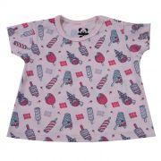 Camiseta Baby Curta Rosa