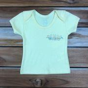 Camiseta Curta Baby Amarela