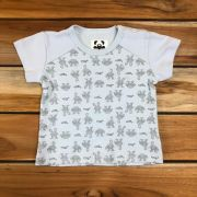 Camiseta Curta Baby Azul